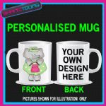 CUTE ELEPHANT LADIES MUG PERSONALISED GIFT 001